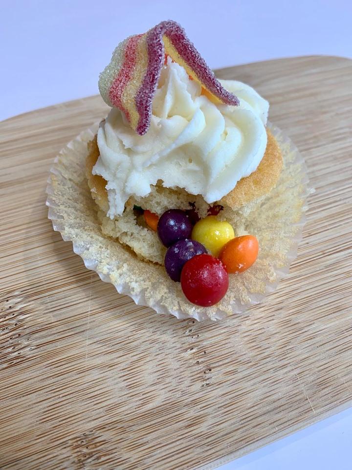 skittle pinata cake