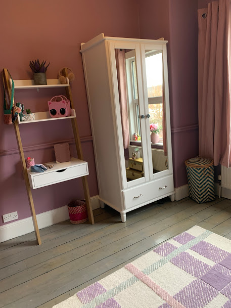 A suffolk mum blog, 7 year old girl bedroom ideas, dressing table and wardrobe