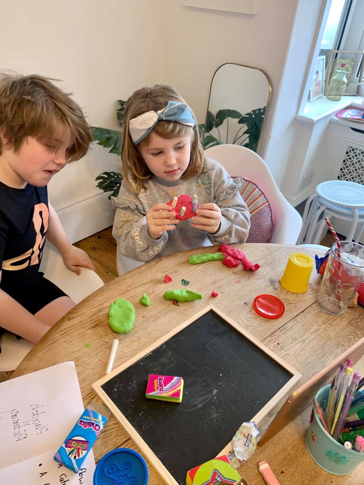 a suffolk mum blog, playdoh pictionary, preschool games for video calls