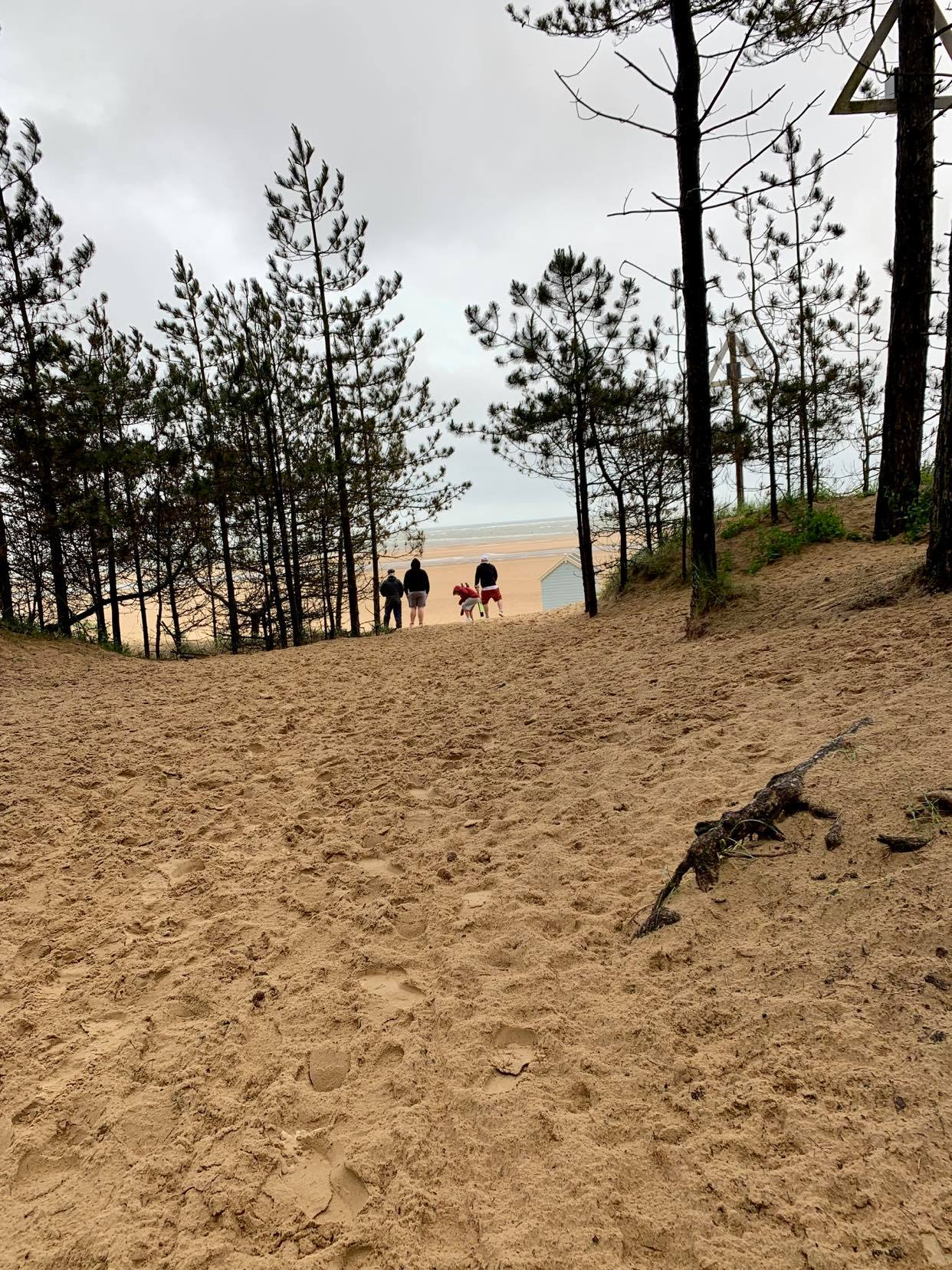 Walking to the beach at wells next to the sea, A suffolk mum blog holiday review